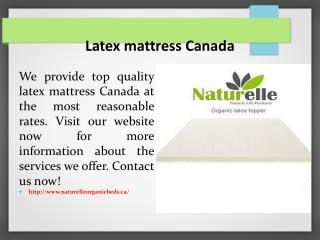 Latex mattress Canada