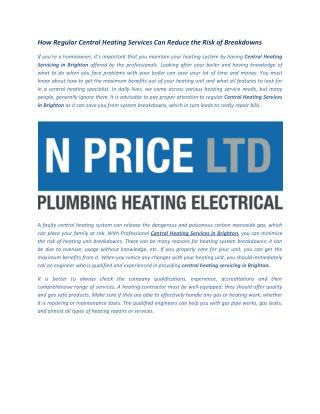 Central Heating Services in Brighton