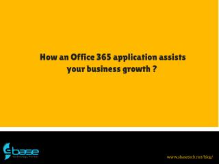 How can Apps for Office 365 help your business grow?