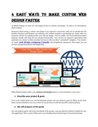 4 Easy Ways To Make Custom Web Design Faster