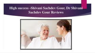 Sci Healthcare, Dr Shivani Sachdev Gour Contact Number
