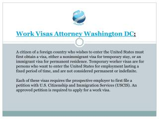 Work Visas Attorney Washington DC