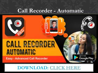 Automatic call recorder for android