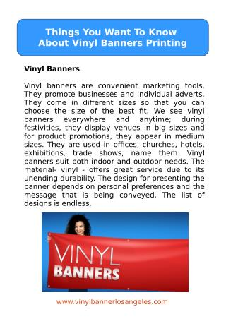 Things You Want To Know About Vinyl Banners Printing