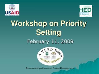 Workshop on Priority Setting