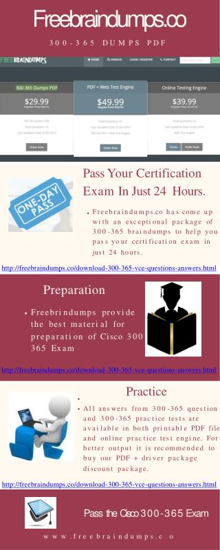 Pass Your Cisco 300-365 With Experts Help