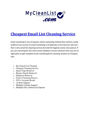 Cheapest Email List Cleaning Service.pdf