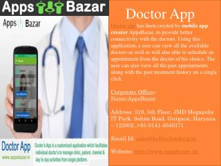User Get Quick Appointment with Doctor By Doctor App