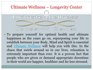Professional Staff to Support Your Journey to Optimal Health – Ultimate Wellness Center