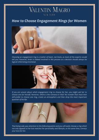 How to Choose Engagement Rings for Women