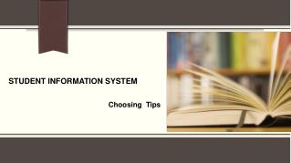 Tips for Choosing a Student Information System!