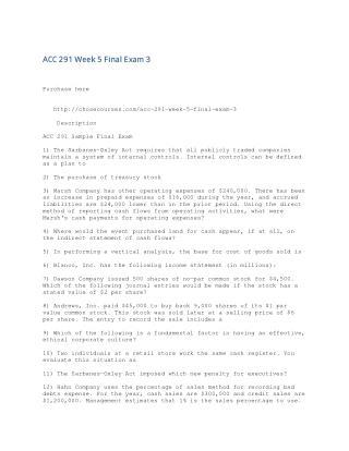 ACC 291 Week 5 Final Exam 3