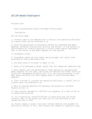 ACC 291 Week 5 Final Exam 4
