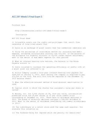 ACC 291 Week 5 Final Exam 5