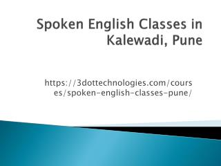 English Speaking Classes in pune | 3DOT Technologies