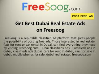 Dubai Car Rentals |Freesoog.com
