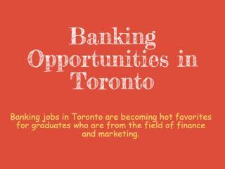 Banking Jobs Toronto