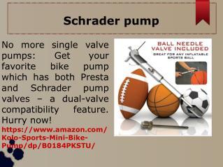Schrader pump