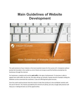 Main Guidelines of Website Development in Canada- iMedia Designs