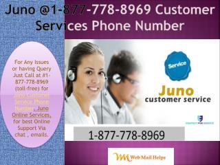 NET (1-877*778-8969) for JunO Online Service
