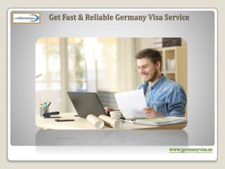 Get Fast & Reliable Germany Visa Service