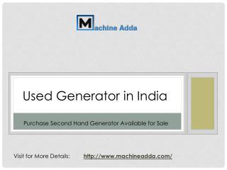 Used Generator India