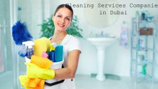 Cleaning Services Companies in Dubai | Cleaning Services