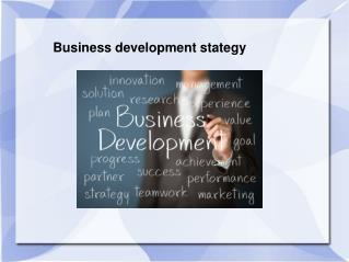 Sample PPT on Business development strategy
