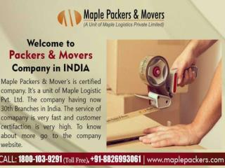 Packers and Movers Delhi - Maple packers and Movers in Delhi