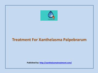 Treatment For Xanthelasma Palpebrarum