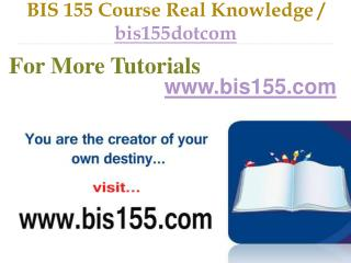 BIS 155 Course Real Tradition,Real Success / bis155dotcom
