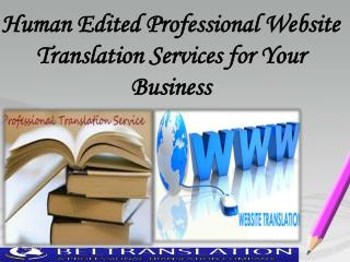 Human Edited Professional Website Translation Services for Your Business