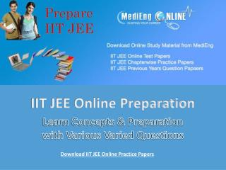 IIT JEE Online Practice Papers