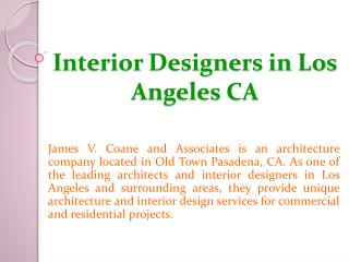 Interior Designers in Los Angeles CA