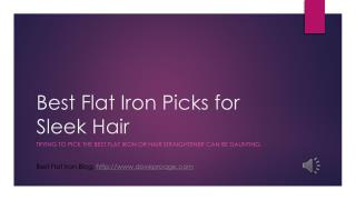The Best Flat Irons for Hair