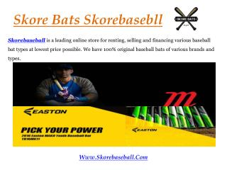 Best Bats at Skorebaseball