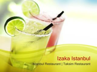 Taksim best restaurants - Delicious Turkish Foods