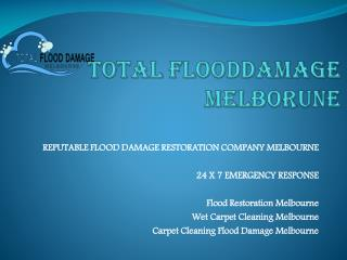 Flood damage restoration Melbourne
