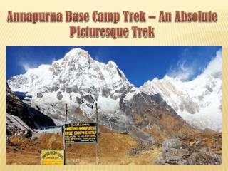 Annapurna Base Camp Trek – An Absolute Picturesque Trek