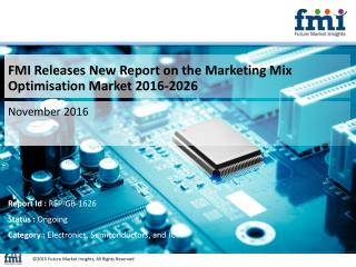Good Growth Opportunities in Global Marketing Mix Optimisation Market Till 2026