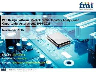 PCB Design Software Market Revenue is expected to reach US$ 4,755.1 Mn Over 2016 – 2026