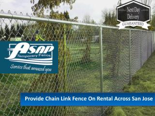 Temporary fence rentals