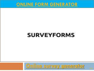 Online survey form generator | Surveyforms