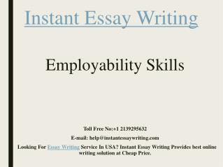 Sample PPT ON Employability Skills