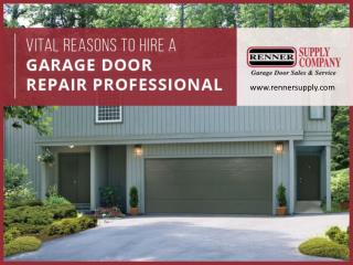 Top Reasons to Hire a Garage Door Repair Professional