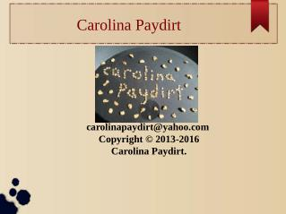 Carolina Paydirt – Gold Prospecting Supplies