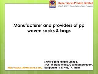 hdpe pp woven sacks manufacturer India