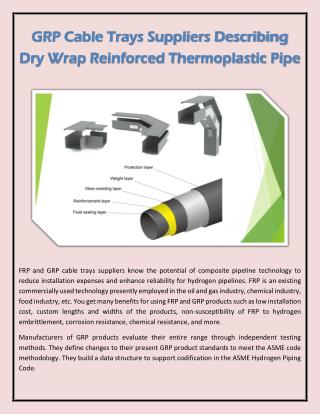 GRP Cable Trays Suppliers Describing Dry Wrap Reinforced Thermoplastic Pipe