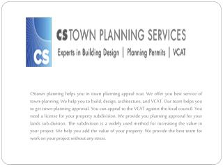 Search town planning company Melbourne