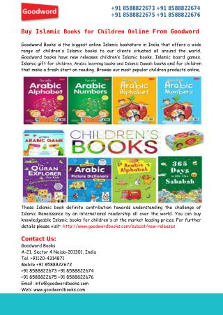 Buy Islamic Books for Children Online From Goodword